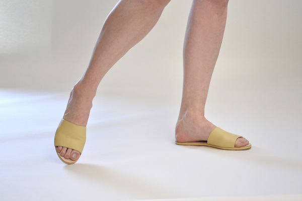 The Palatines Caelum slide sandal - sun leather