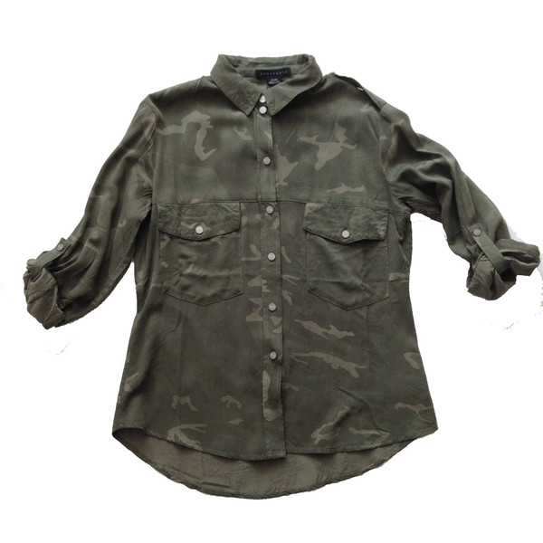 Sanctuary Boyfriend Shirt Camo