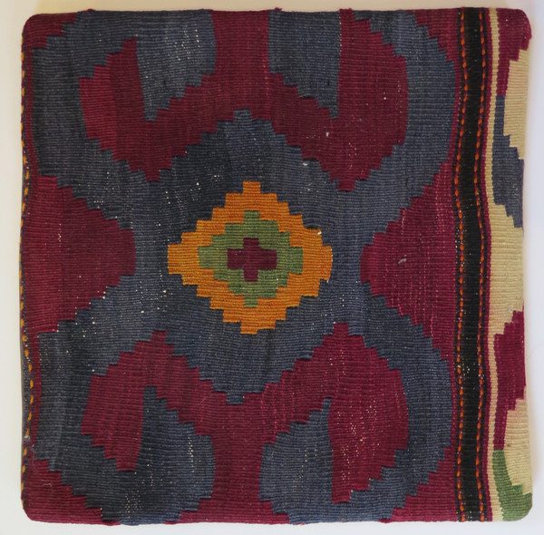 Kilim 16x16 Turkish pillow case 12