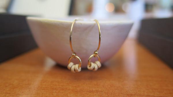 Emmy Trinh Jewlery Sol Trinity Rondelle Drop Earrings