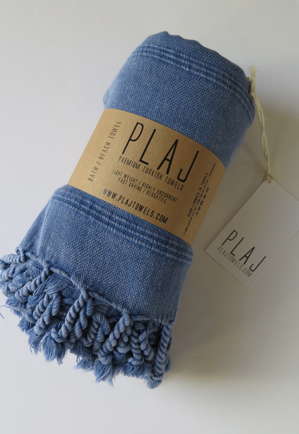 Texada Stonewashed Towel- Denim