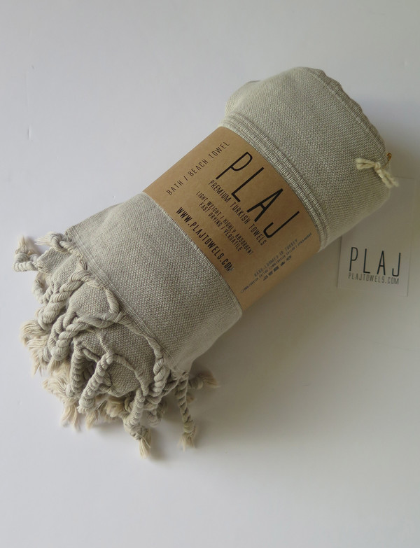 Plaj Texada Stonewashed Towel- Sand
