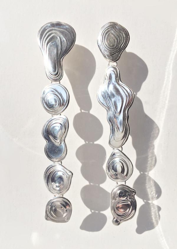 Leigh Miller Sterling Silver Drip Earrings