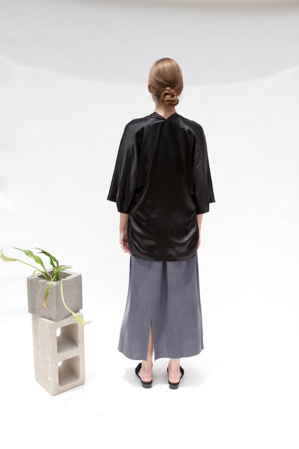 Miranda Bennett Muse Top, Silk Charmeuse in Black