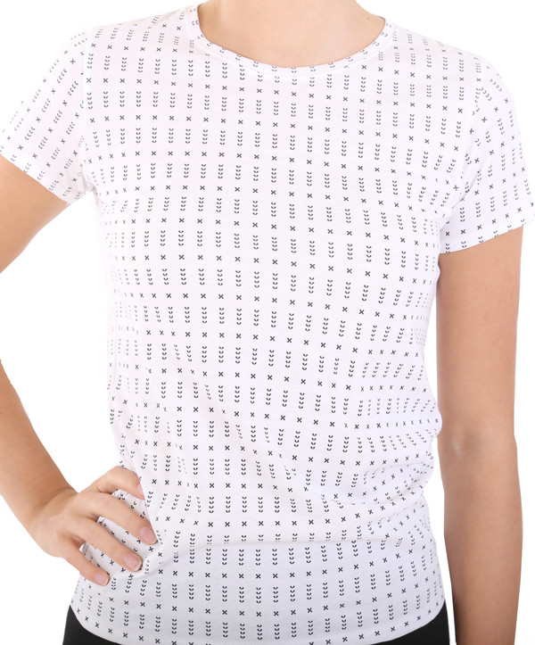 Rag & Bone Base Tee in White Print