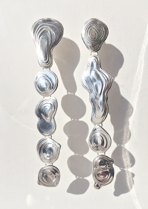 Leigh Miller Sterling Silver Drip Earring