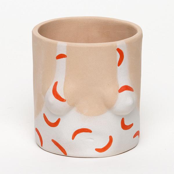 Group Partner Orange Hockney Pot