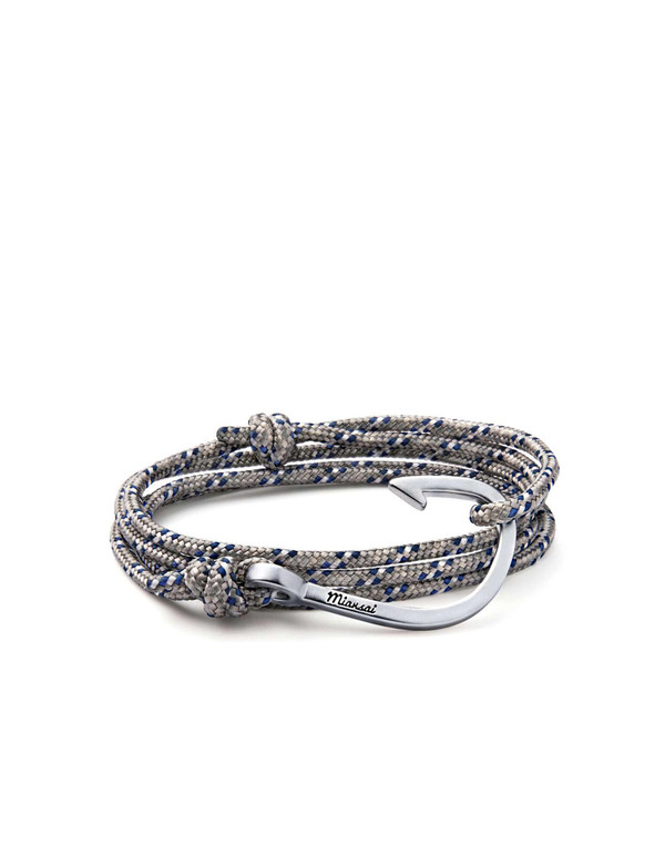 Miansai Hook on Rope Bracelet - Grey blue