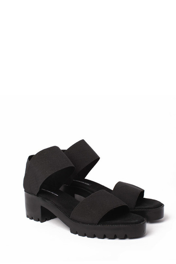 James Rowland Shop Elastic and Leather Dual Strap Sandal