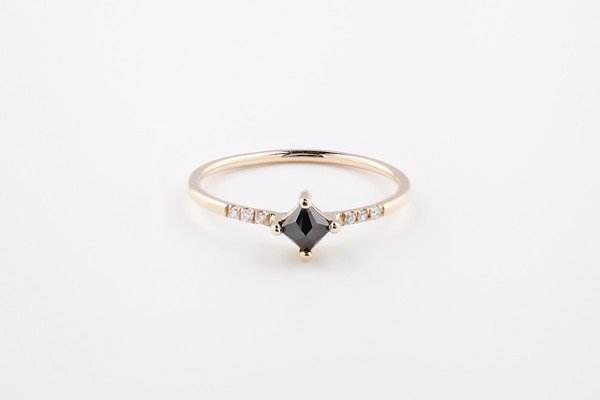 Jennie Kwon Designs Black Diamond Equilibrium Point Ring
