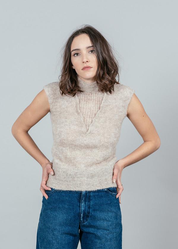 Rachel Comey Boucle Short Sleeve Turtleneck