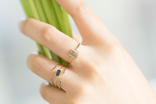 Jennie Kwon Designs Diamond Box Ring