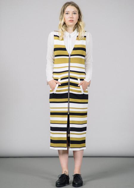 Ganni Francis Zip-Up Stripes Dress