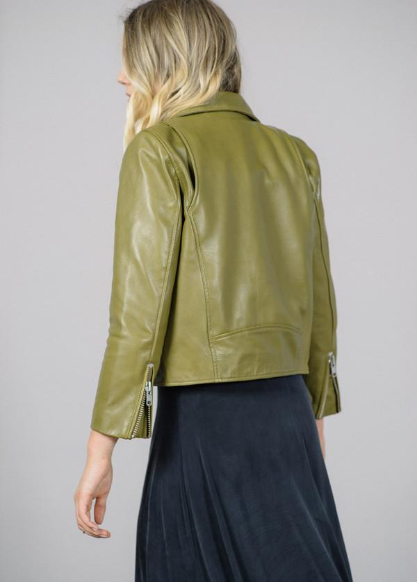 Ganni Passion Biker Leather Jacket