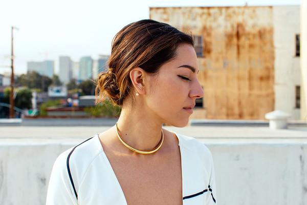 Gabriela Artigas Pave Infinite Tusk Earring