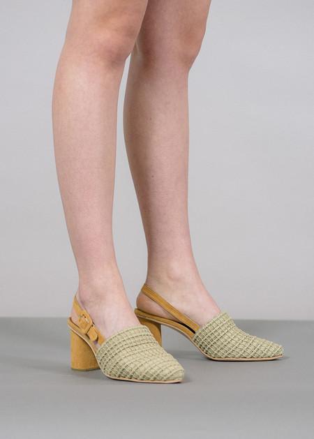 Rachel Comey Sola Pointed Toe Slingback Block Heels