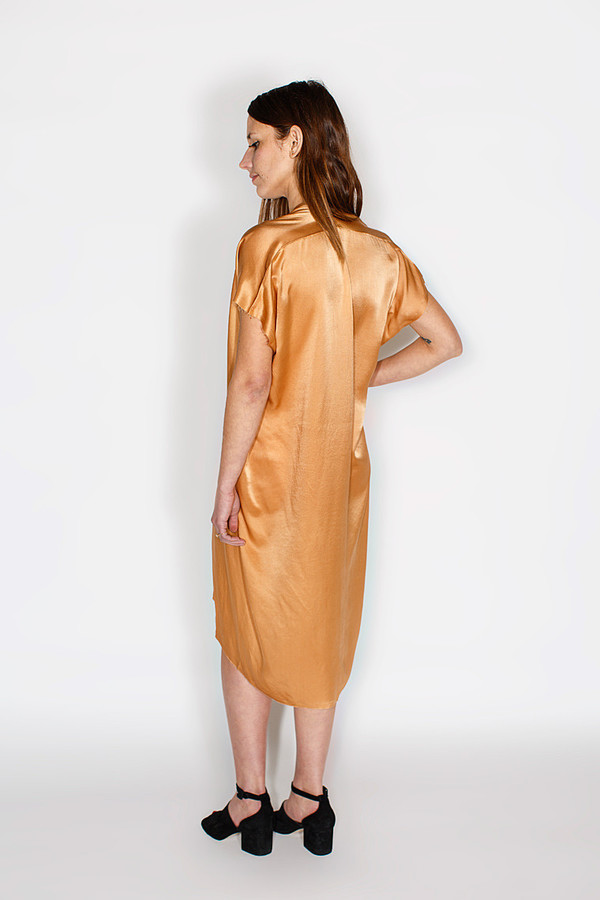 Miranda Bennett Everyday Dress, Silk Charmeuse in Sand