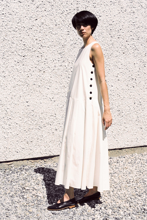 Mr. Larkin Marlin Dress - chalk white