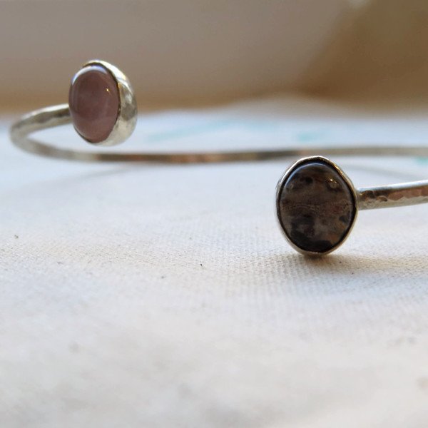 Muse Me Jewelry Sterling Silver Cuff With Stones