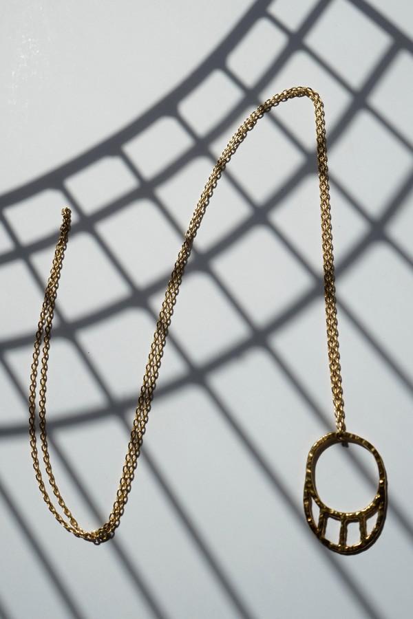 Nettie Kent Jewelry Kia Pendant Brass