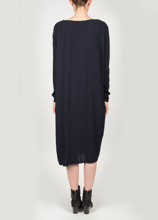Black Crane - Plain Dress in Eggplant
