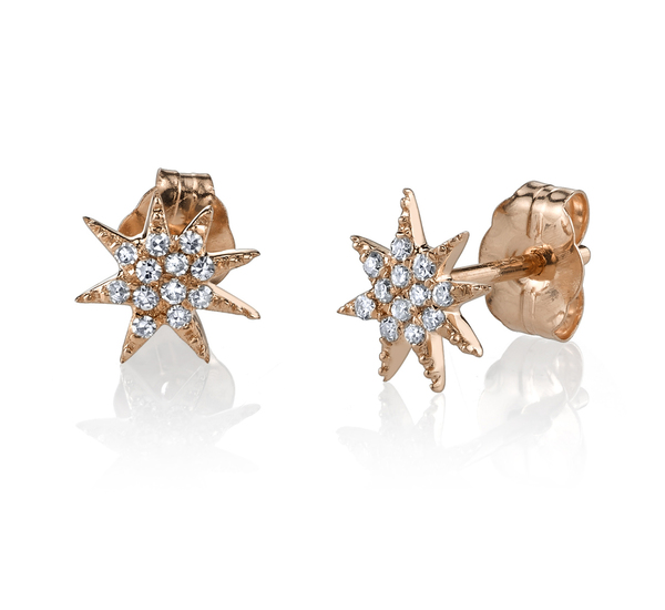 Gabriela Artigas 14 Rose Gold Single Pave Star Earring