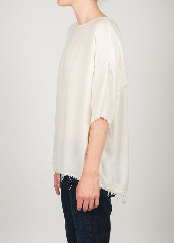 Black Crane - Square Top Short Sleeve in Cream