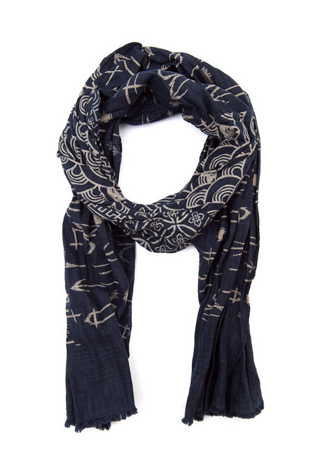 Kiriko Split Multi Pattern Arrow Scarf