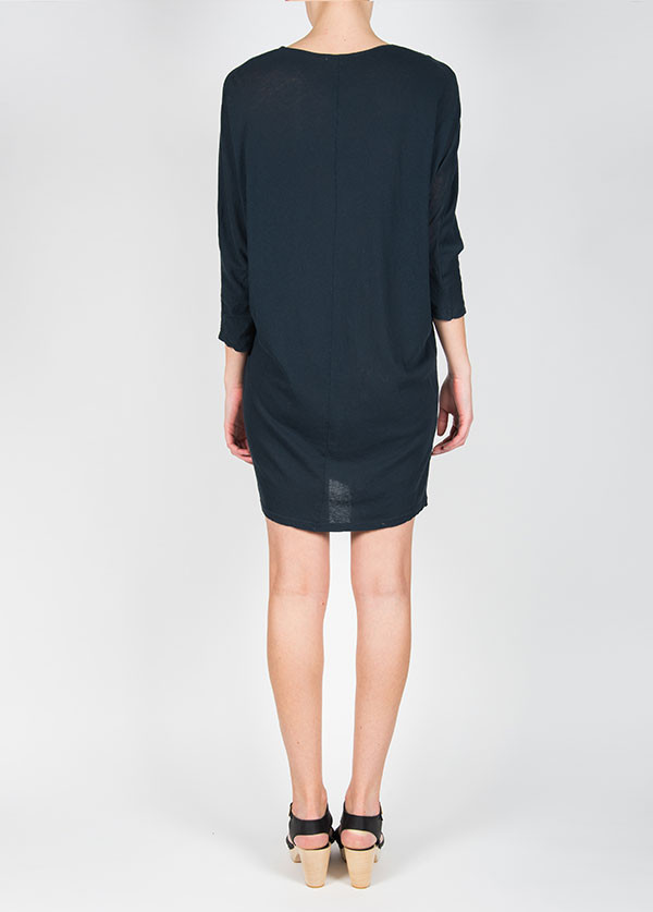 Black Crane Wide Dress in Grey Black