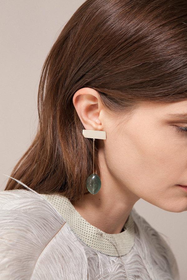 Kathleen Whitaker Moss Aquamarine Drop Earrings