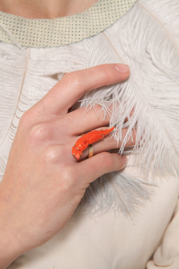 Kathleen Whitaker Coral Parrot Ring