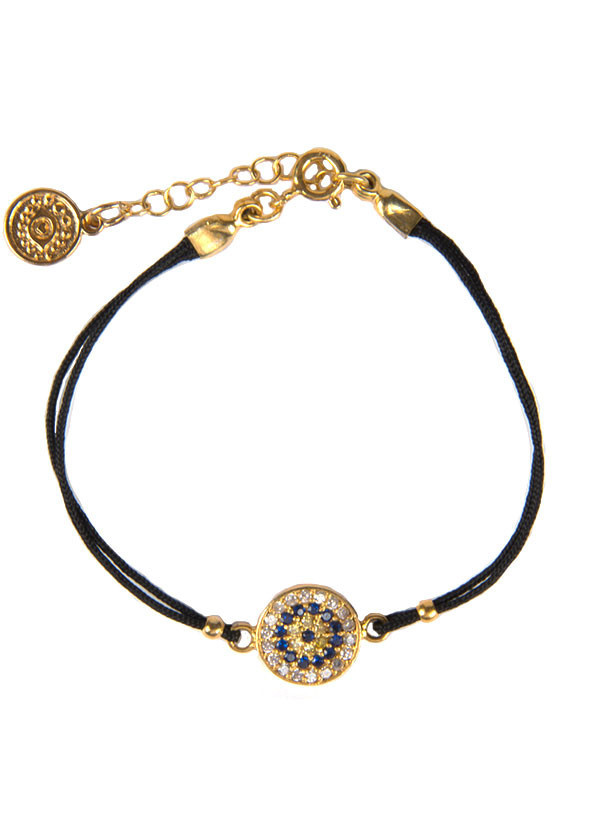 Blee Inara - Circle Charm Bracelet with Double String