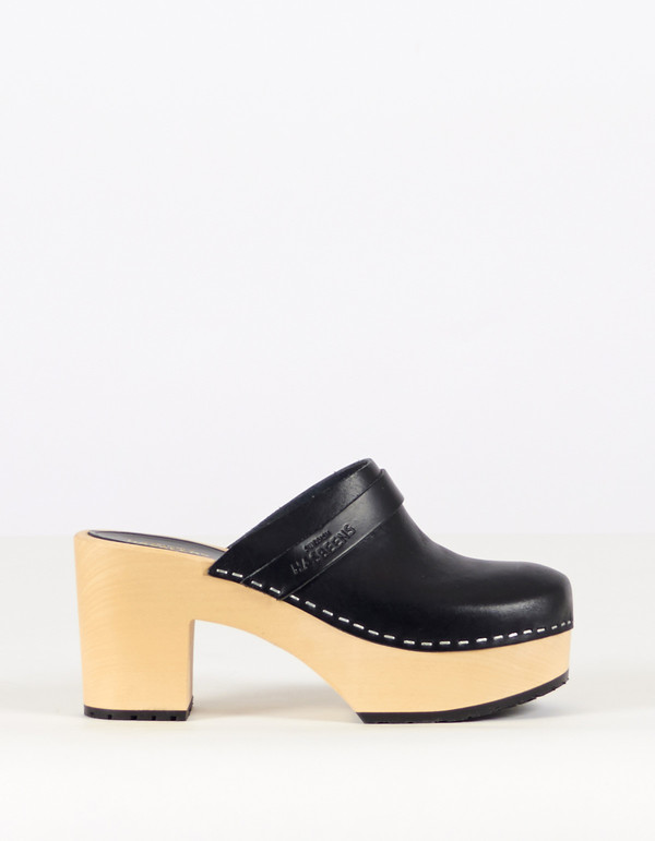 Swedish Hasbeens Louise Slide Black