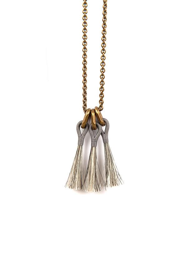 Boet Triple Horsehair Tassel Necklace