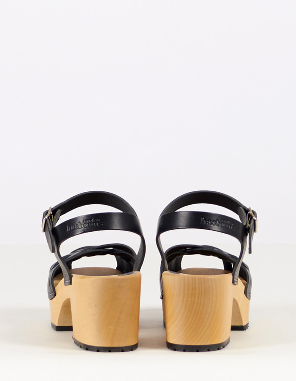 Swedish Hasbeens Marina Clog Black