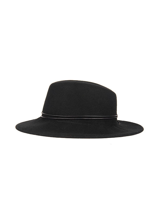 Men's Brookes Boswell Millinery - Jackson in Black Wool Felt