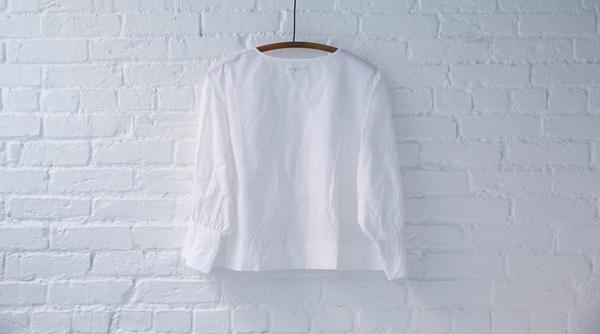 apiece apart bib front blouse
