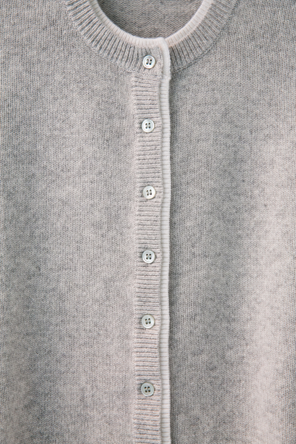 allude classic two-tone cardigan