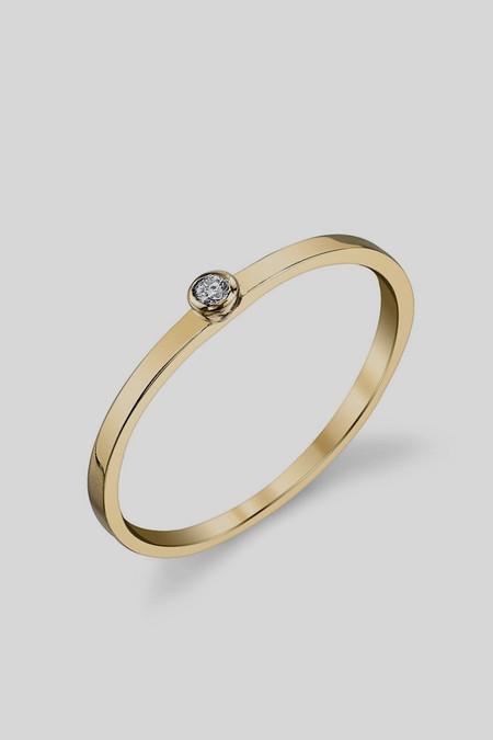 Gabriela Artigas & Company 14K White Diamond Ring