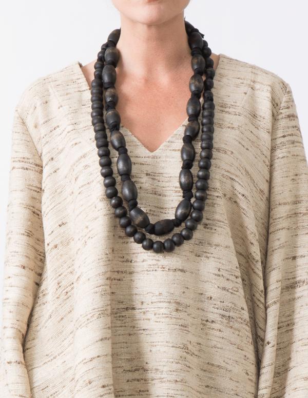 SBJ Austin Wooden Necklace