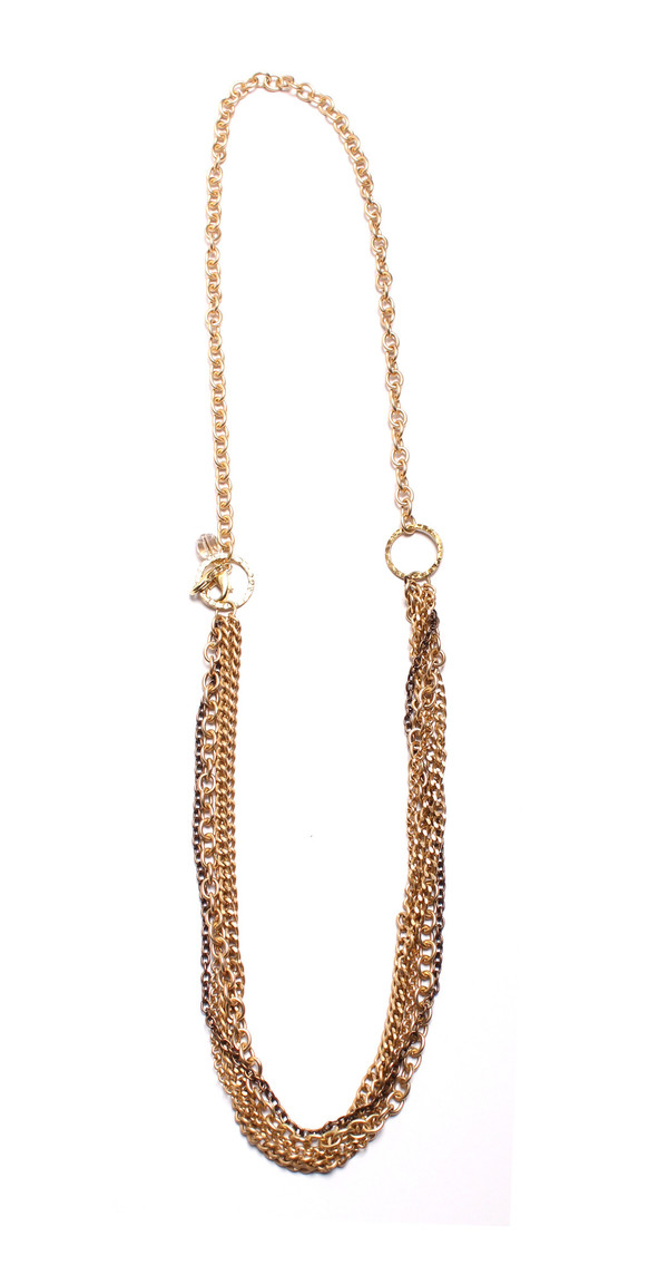 Grayling Crystalline Convertible Necklace in Gold