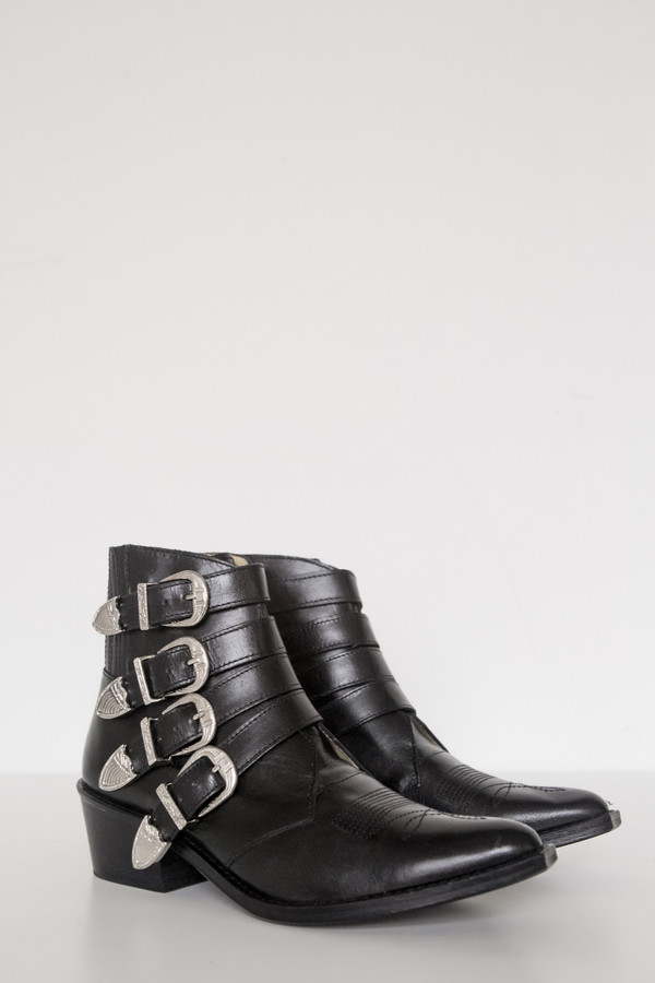 Toga Pulla Leather Buckle Boot