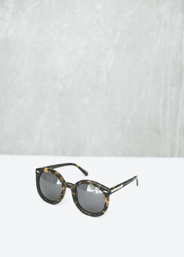 Karen Walker Eyewear Super Duper Strength in Crazy Tortoise