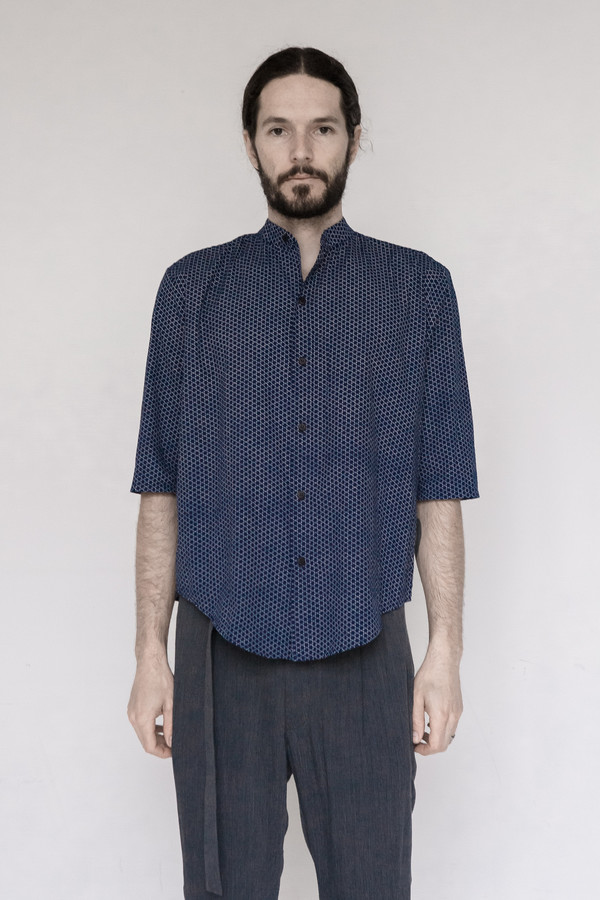 Assembly New York Printed Noncollar Shirt - Star