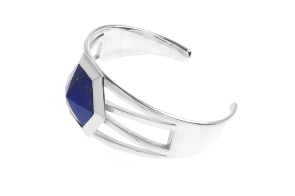 Shahla Karimi Hex Set Cuff with Lapis