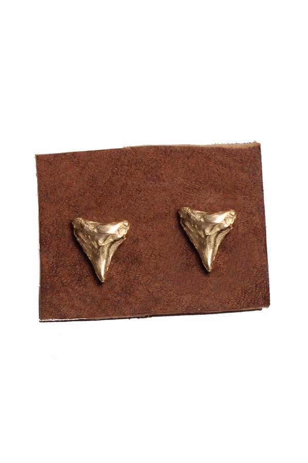 Sarah Dunn Bronze Shark Tooth Studs