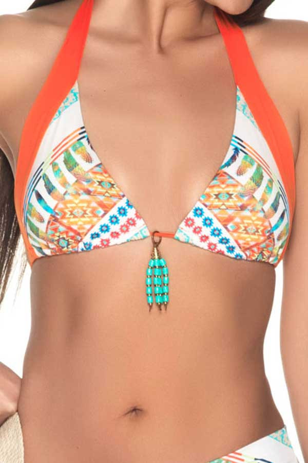 Estivo Fusion Triangle with Beading Bikini Top