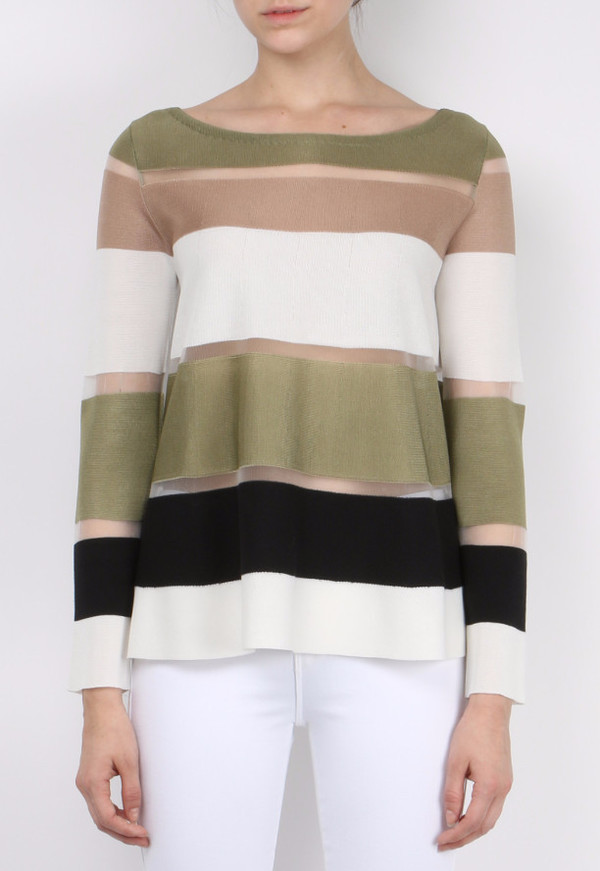 (nude) Boat Neck Sweater
