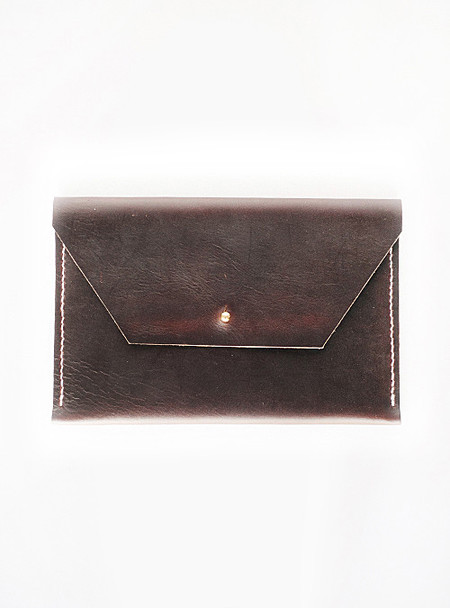 Trial by Fire Leather Clutch