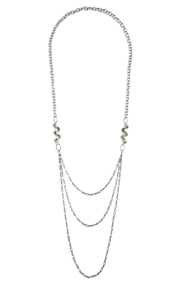 Grayling Cascade Necklace in Silver